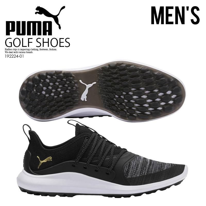 【希少!メンズ ゴルフシューズ】 PUMA (プーマ) IGNITE NXT SOLELACE (イグナイト NXL ソーレース) MENS ゴルフシューズ スパイクレス BLACK GOLD (ブラック/ゴールド) 192224-01 ENDLESS TRIP ENDLESSTRIP エンドレストリップ