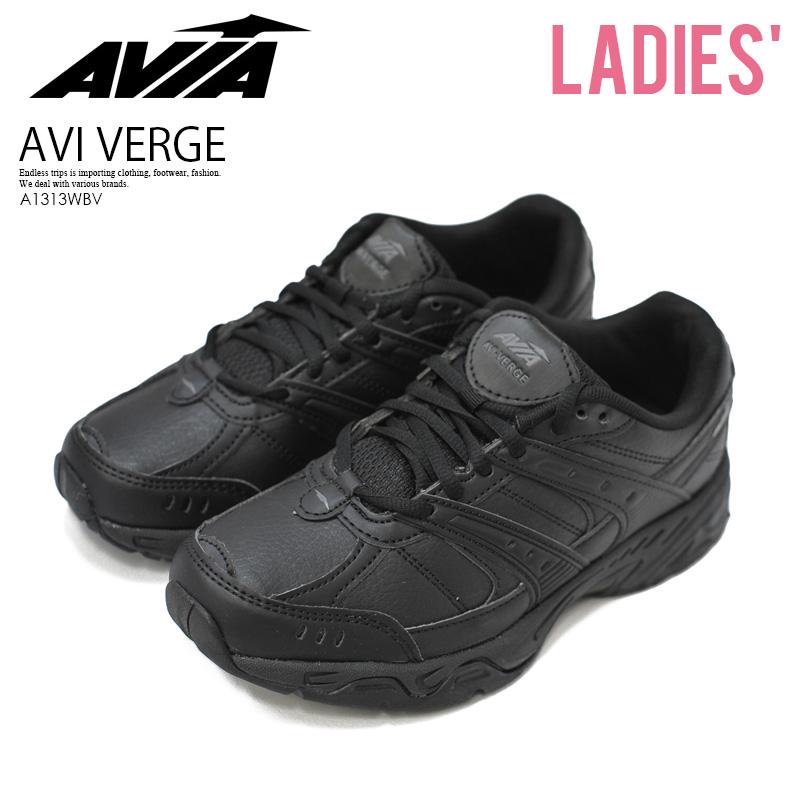 【日本未入荷! 希少! レディース モデル】 AVIA (アヴィア) AVI VERGE (アヴィ バージ) ウィメンズ フィットネス エクササイズ ダンス シューズ スニーカー 黒 BLACK/BLACK (ブラック) A1313WBV ENDLESS TRIP ENDLESSTRIP エンドレストリップ