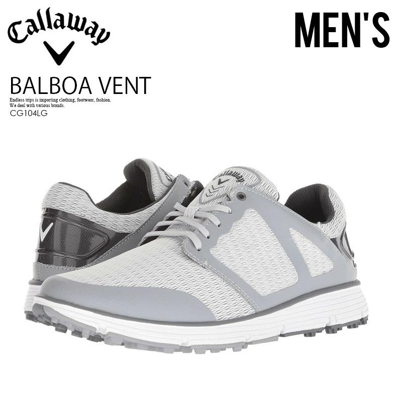 【希少!大人気!メンズ ゴルフシューズ】 CALLAWAY (キャロウェイ) BALBOA VENT 2.0 (バルボア ベント) ゴルフシューズ スパイクレス LIGHT グレー (ライトグレー) CG104LG ENDLESS TRIP ENDLESSTRIP エンドレストリップ