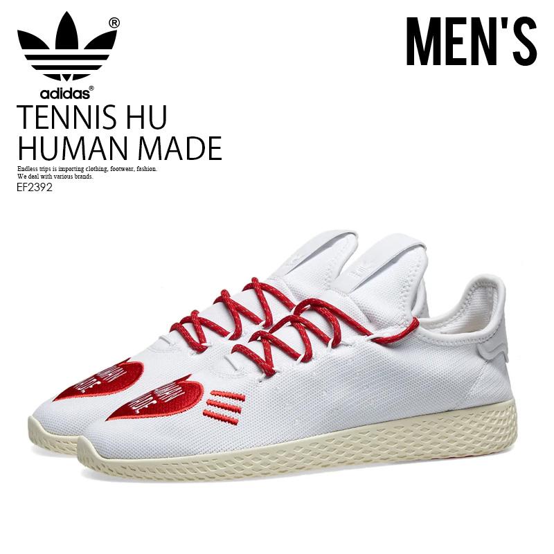 【大人気!希少!ユニセックス モデル】 adidas(アディダス)TENNIS HU HUMAN MADE (テニス ヒューマン メイド) メンズ レディース WHITE SCARLET/BLACK (ホワイト/ブラック) EF2392 ENDLESS TRIP ENDLESSTRIP エンドレストリップ