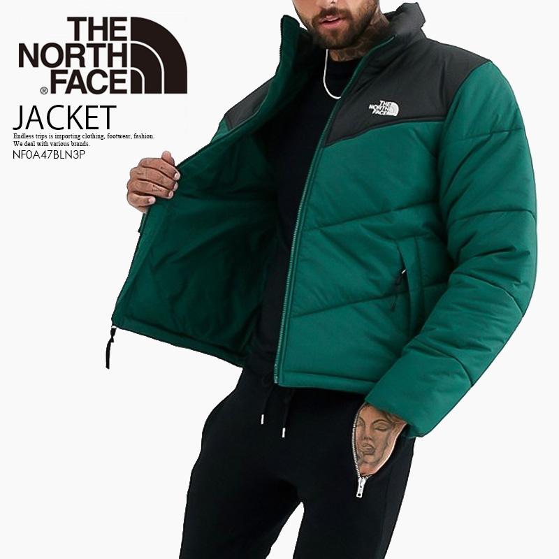 【希少!大人気!】THE NORTH FACE (ノースフェイス) MEN'S SAIKURU JACKET (メンズ サイクル ジャケット) 中綿ジャケット メンズ アウター 黒×緑 NIGHT GREEN (ナイト グリーン) NF0A47BLN3P