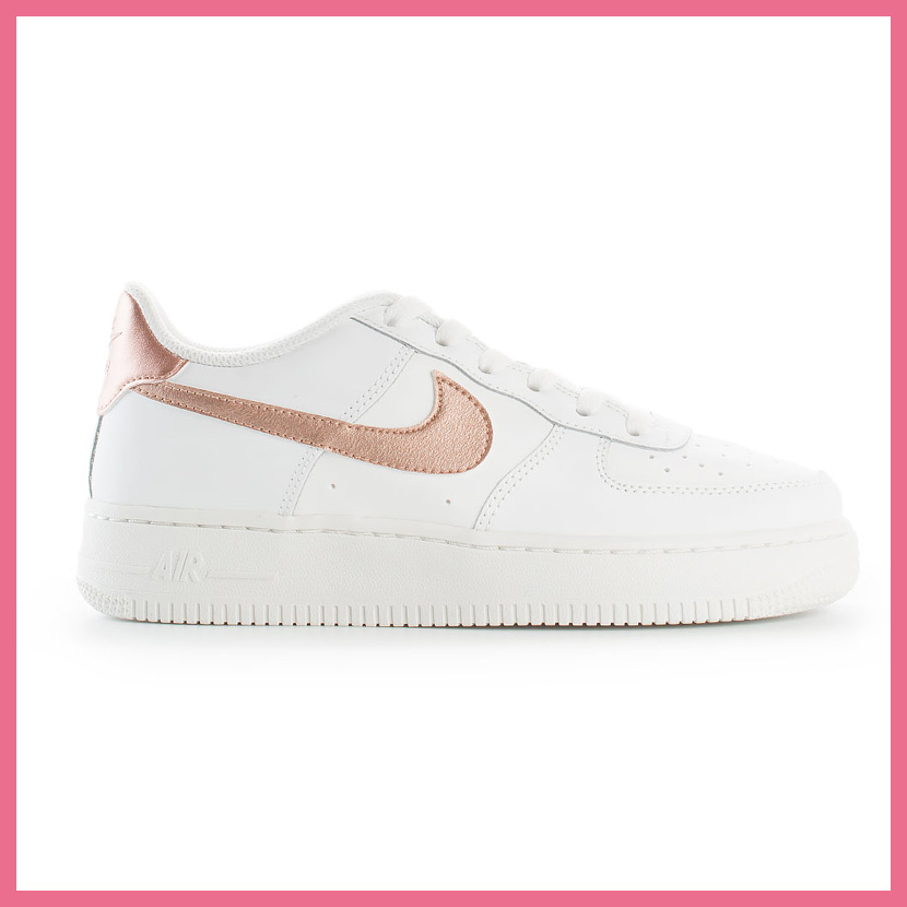 a66f5e3188a17c NIKE (Nike) AIR FORCE 1 (GS) (air force 1) kids model WOMENS sneakers shoes  SUMMIT WHITE MTLC RED BRONZE (white   bronze) 314219 129