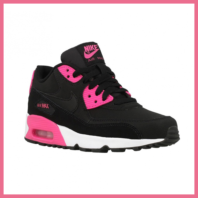 new concept ec618 8aca2 ... germany nike nike air max 90 leather gs air max 90 leather womens women  sneakers black