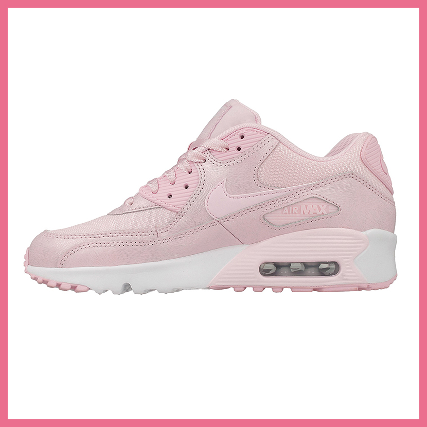 online store 561fa ff7f7 ... pink pow white leather unisex 3ebba ccc3b purchase nike nike air max 90  se mesh gs air max 90 mesh kids model sneakers ...