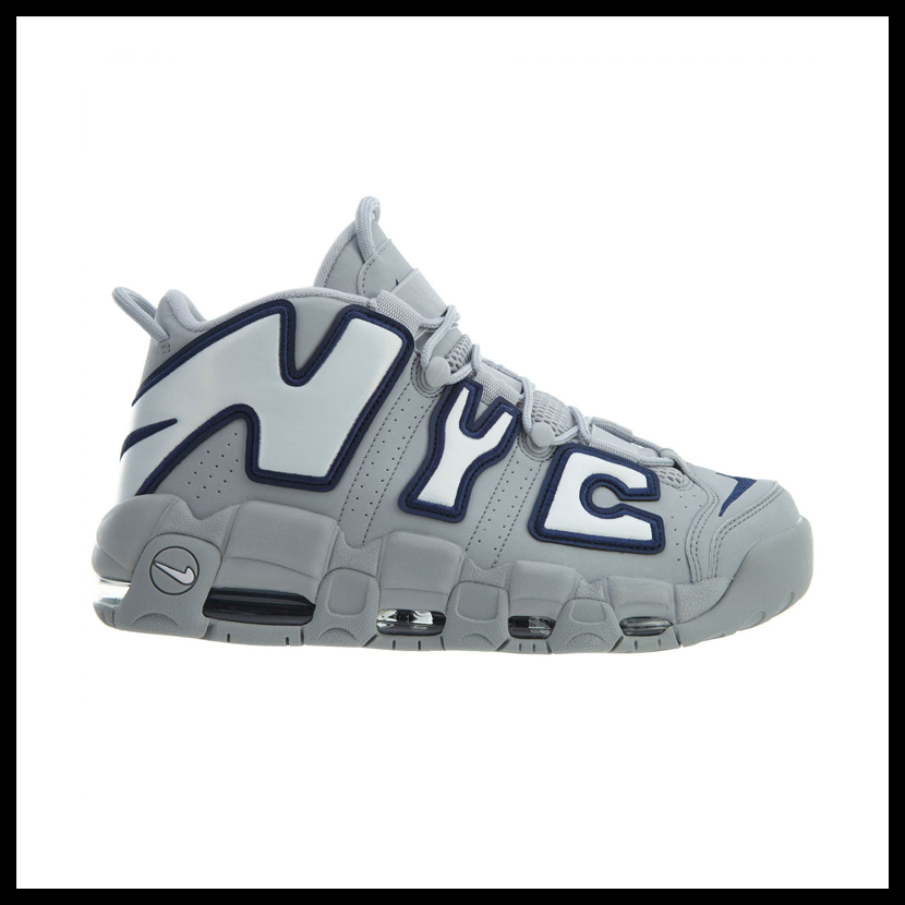 NIKE (Nike) AIR MORE UPTEMPO NYC QS (air more up tempo) sneakers NEW YORK New York WOLF GREYWHITE MIDNIGHT NAVY (gray white navy) AJ3137 001