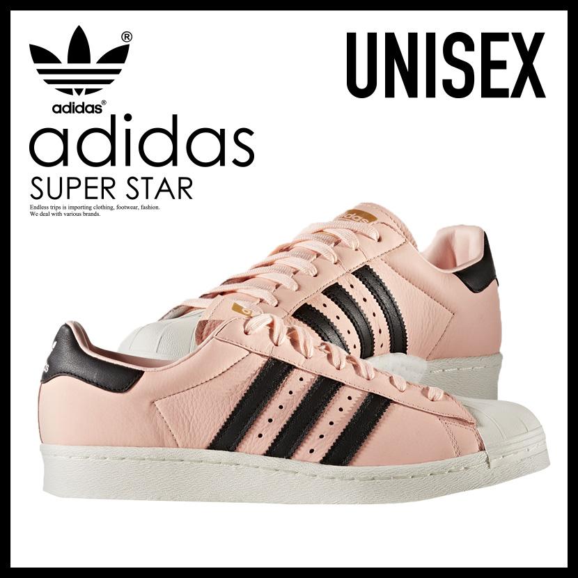 adidas superstars mens pink and black