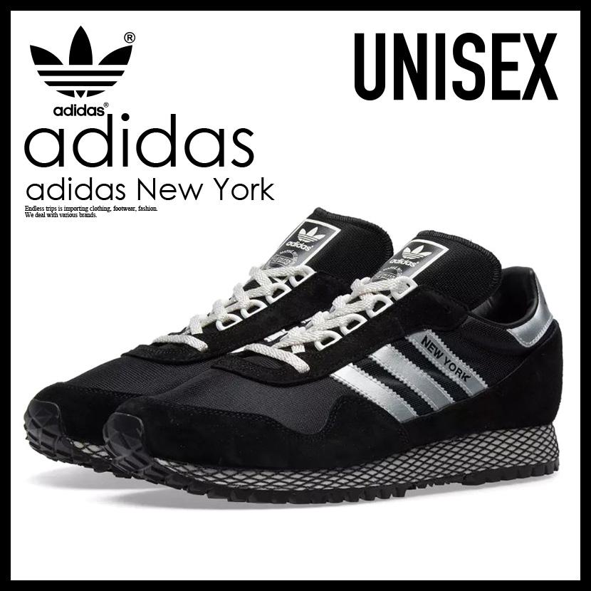 【希少! 大人気! ユニセックス サイズ】 adidas(アディダス)NEW YORK (ニューヨーク) レディース メンズ スニーカー シューズ CBLACK/SILVMT/CBLACK (ブラック/シルバー) BY9339 ENDLESS TRIP ENDLESSTRIP エンドレストリップ