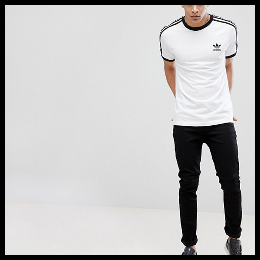 newest 1d8e5 e951c Rare is hard to obtain it is unisex T-shirt adidas (Adidas) 3-STRIPES TEE  (3 stripe T-shirt) MENS LADYS men gap Dis T-shirt short sleeves WHITE  (white) ...