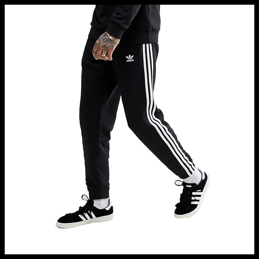 adidas (Adidas) 3-STRIPES PANTS (3 stripe underwear) MENS Kinney jersey  jogger underwear BLACK (black) CW2981 ass recreation sports mixture pickup