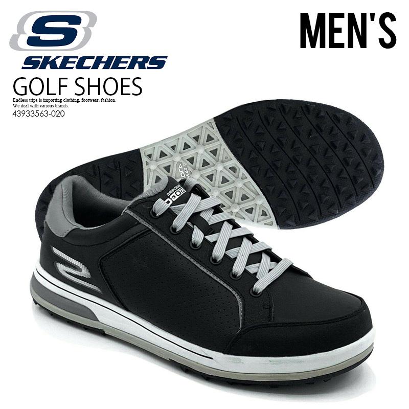 【希少!メンズ ゴルフシューズ】 SKECHERS (スケッチャーズ) GO GOLF DRIVE II(ゴー ゴルフ ドライブ) MENS ゴルフ スパイクレス スニーカー BLACK/WHITE (ブラック/ホワイト) 53546/BKW ENDLESS TRIP ENDLESSTRIP エンドレストリップ