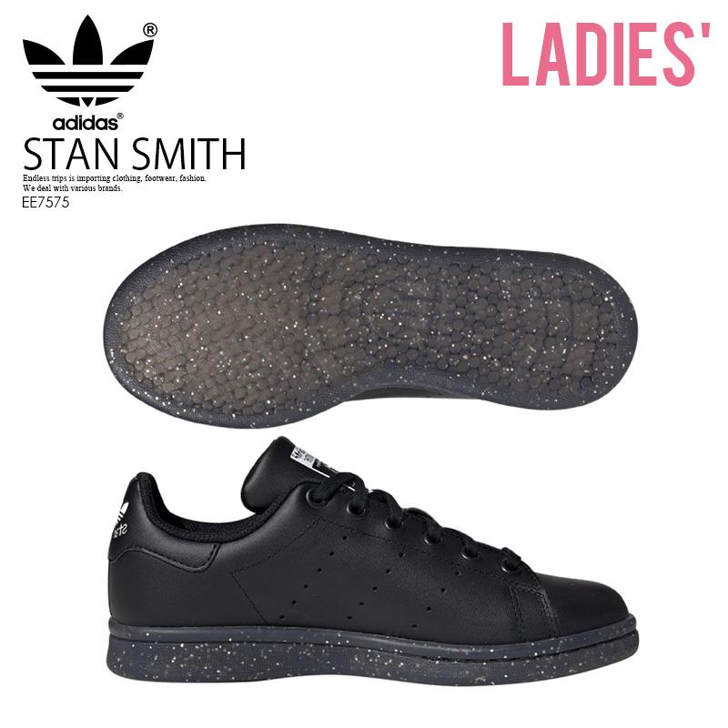 【希少! 大人気!】 adidas (アディダス) STAN SMITH J (スタン スミス J) レディース/ジュニア スニーカー 黒 CBLACK/CBLACK/FTWWHT (ブラック) EE7575 ENDLESS TRIP ENDLESSTRIP エンドレストリップ