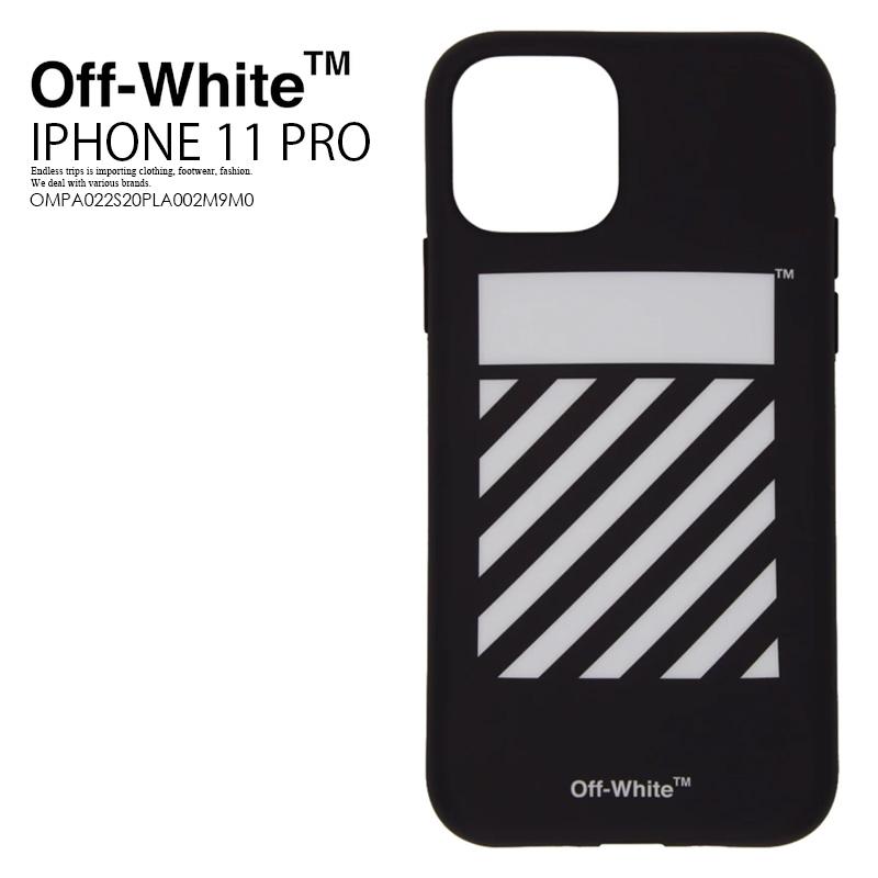 【希少! 大人気!】 Off-White (オフホワイト) DIAG IPHONE 11 PRO COVER アイフォンケース スマホケース iPhone 11 Pro対応 BLACK/WHITE (ブラック/ホワイト) OMPA022S20PLA002M9M0