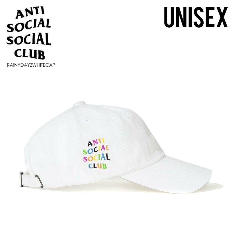 【アウトレット☆訳あり価格商品】【入手困難!】ANTI SOCIAL SOCIAL CLUB (アンチソーシャルソーシャルクラブ) RAINY DAYZ WHITE CAP (レイニー デイズ ホワイト キャップ) 帽子 ユニセックス メンズ レディース (ホワイト) RAINYDAYZWHITECAP ※汚れ・擦れあり