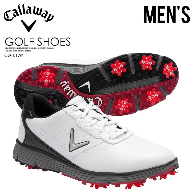 【希少! 大人気! メンズ ゴルフシューズ】 CALLAWAY (キャロウェイ) BALBOA TRX (バルボアTRX) MENS ゴルフ スパイク WHITE/BLACK (ブラック/ホワイト) CG101WK ENDLESS TRIP ENDLESSTRIP エンドレストリップ