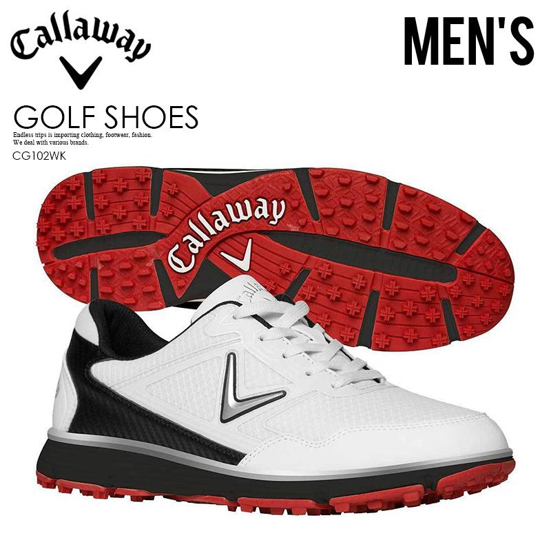 【希少! 大人気! メンズ ゴルフシューズ】 CALLAWAY (キャロウェイ) BALBOA VENT (バルボア ベント) MENS ゴルフ スパイクレス 白い/黒 (ブラック/ホワイト) CG102WK ENDLESS TRIP