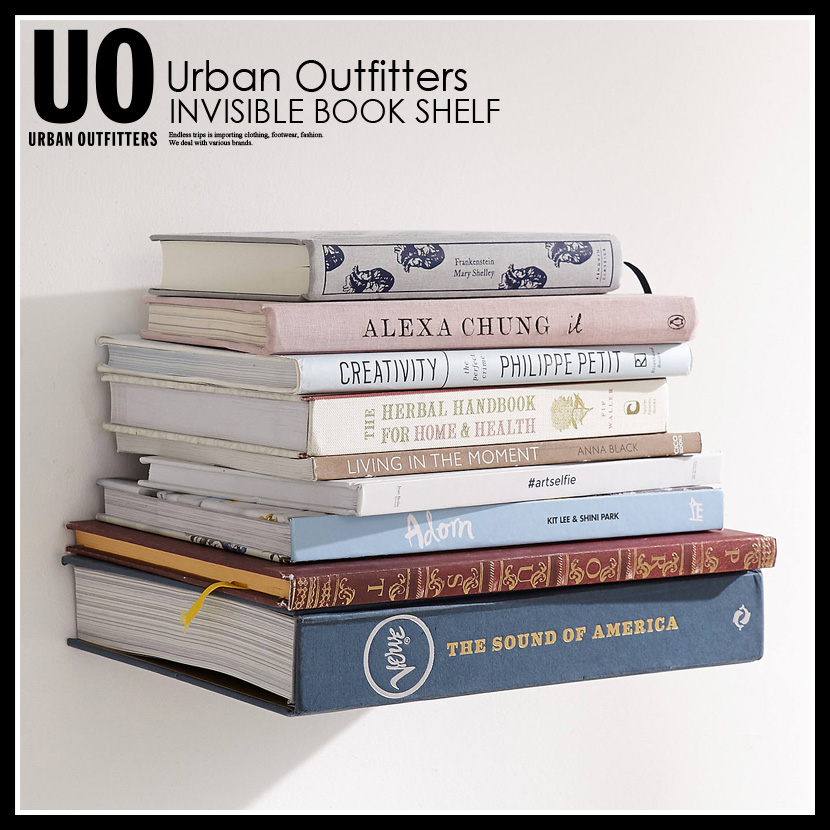 Umbra Ann Bra INVISIBLE BOOK SHELF Invisible Bookshelf Wall Decorations Hangings Interior Miscellaneous Goods URBAN OUTFITTERS Urban Outfitters