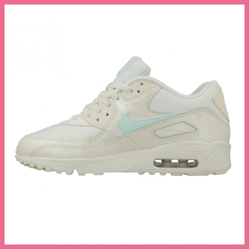 NIKE (Nike) AIR MAX 90 MESH (GS) (Air Max 90 mesh) WOMENS women thickness bottom sneakers SAILIGLOO (white) 833340 107 ENDLESS TRIP ENDLESSTRIP end