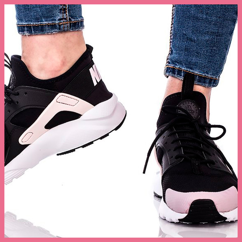 cheap for discount b3129 ef488 NIKE (Nike) AIR HUARACHE RUN ULTRA GS (エアハラチランウルトラ) sneakers BLACK BARELY  ROSE-WHITE (black   Rose   white) 847568 010 ENDLESS TRIP ENDLESSTRIP ...