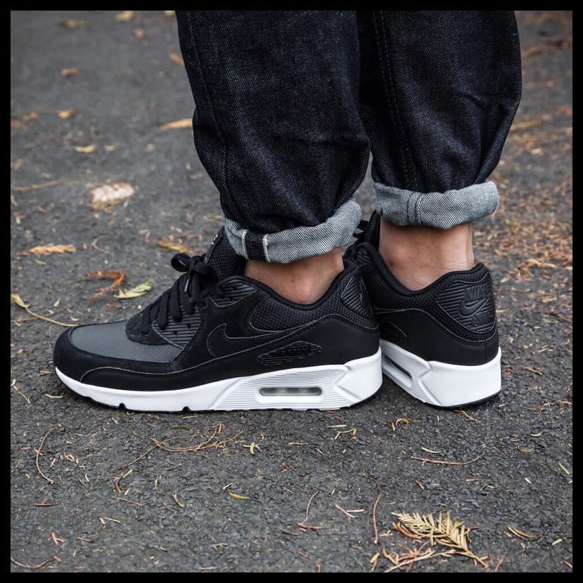 NIKE (Nike) AIRMAX 90 ULTRA 2.0 LEATHER (Air Max ultra leather)  BLACK BLACK-SUMMIT WHITE (white   black) MENS sneakers shoes 924447 001  ENDLESS TRIP ... 50ab65ddc48b