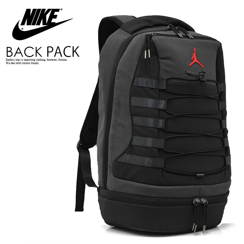 NIKE (Nike) JORDAN RETRO 10 BACKPACK (10 Jordan nostalgic backpacks) men s    Lady s day pack rucksack BLACK DARK SHADOW TRUE RED (black   dark gray)  9A0037 ...