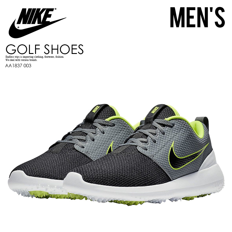 1f7be8f31b64f NIKE (Nike) ROSHE G (ローシジー) MENS GOLF SHOES spikesless golf COOL  GREY BLACK-VOLT-WHITE (gray   black) AA1837 003 ENDLESS TRIP ENDLESSTRIP  end rest lip