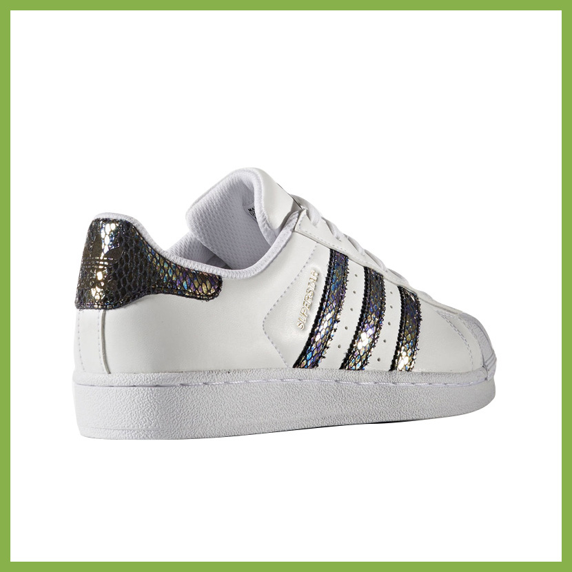 adidas (Adidas) SUPERSTAR METALLIC SNAKE E (superstar metallic snake) kids infant sneakers FTWWHT/FTWWHT/CBLACK (white / black) B27524 ENDLESS TRIP ...