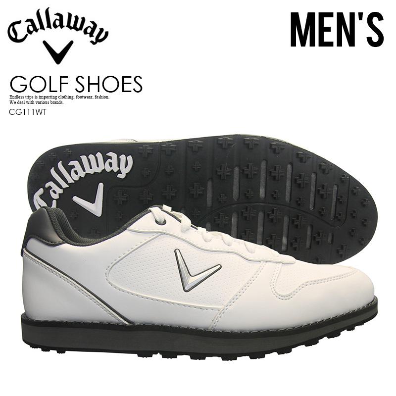【希少!大人気!メンズ ゴルフシューズ】 CALLAWAY (キャロウェイ) SEASIDE (シーサイド) MENS ゴルフシューズ スパイクレス WHITE (ホワイト) CG111WT ENDLESS TRIP ENDLESSTRIP エンドレストリップ
