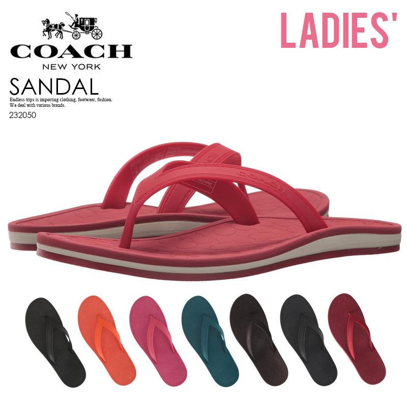 63e0fd737 ENDLESS TRIP  COACH (coach) FLIP-FLAP (flip flap) beach sandal black Coral  dahlia dark tale mahogany navy red 232050 ENDLESS TRIP pickup