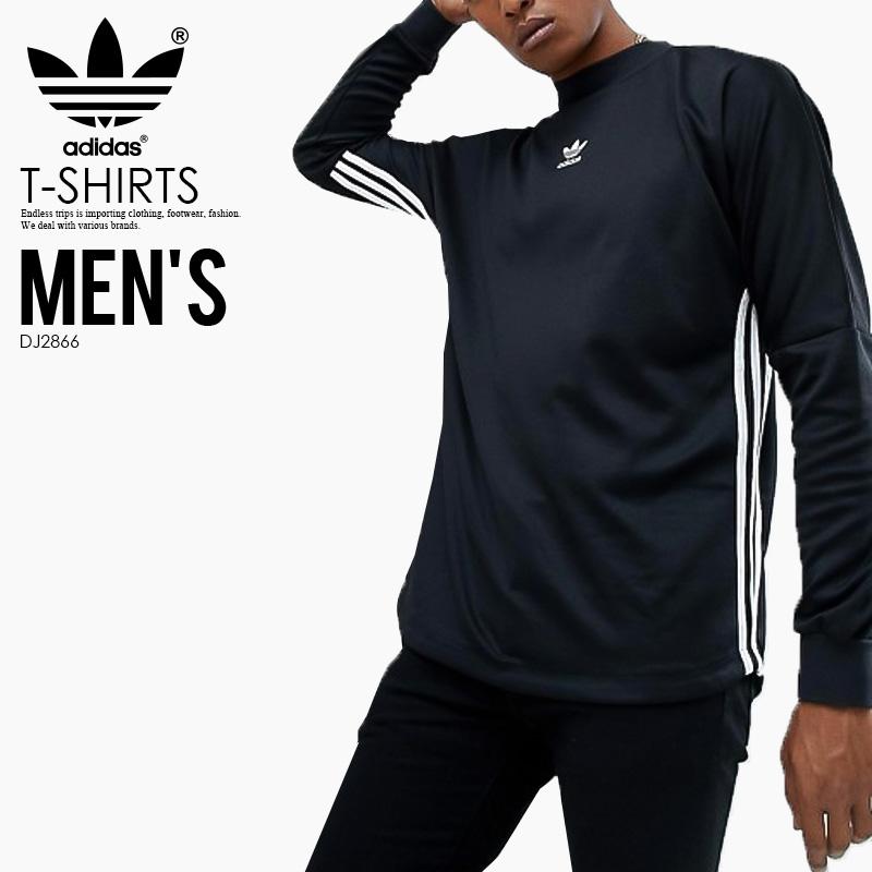 【日本未入荷! 希少! メンズ 長袖 Tシャツ】 adidas (アディダス) AUTHENTIC STRIPE JERSEY (AUTH STR JRSY) (オーセンティック ストライプ ジャージ) MENS LADYS レディース ロング スリーブ Tシャツ BLACK/WHITE (ブラック/ホワイト) カリフォルニア DJ2866 ENDLESS TRIP