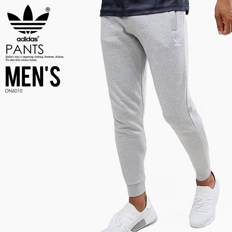【日本未入荷! 希少! メンズ パンツ】 adidas (アディダス) SLIM FLEECE PANTS (SLIM FLC PANT) (スリム フリース パンツ) MENS メンズ パンツ スキニーパンツ スキニージャージ MEDIUM GREY HEATHER (グレー) DN6010 アスレジャー スポーツミックス ENDLESSTRIP