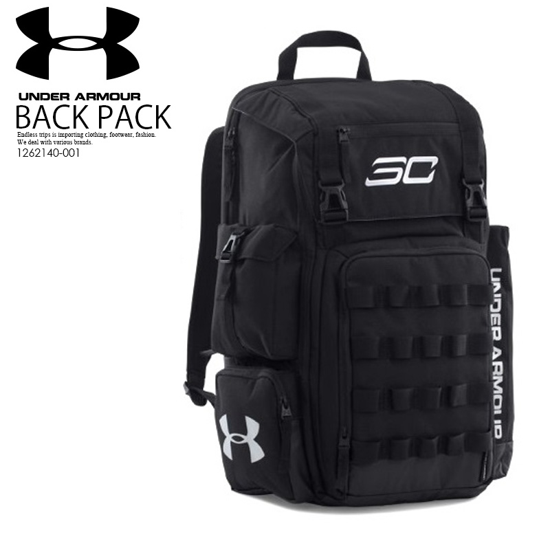 UNDER ARMOUR (under Armour) UA SC30 BACKPACK Stephane curry signature model backpack  rucksack BLACK SILVER (black   silver) 1,262,140-001 ENDLESS TRIP ... d30d8389ca