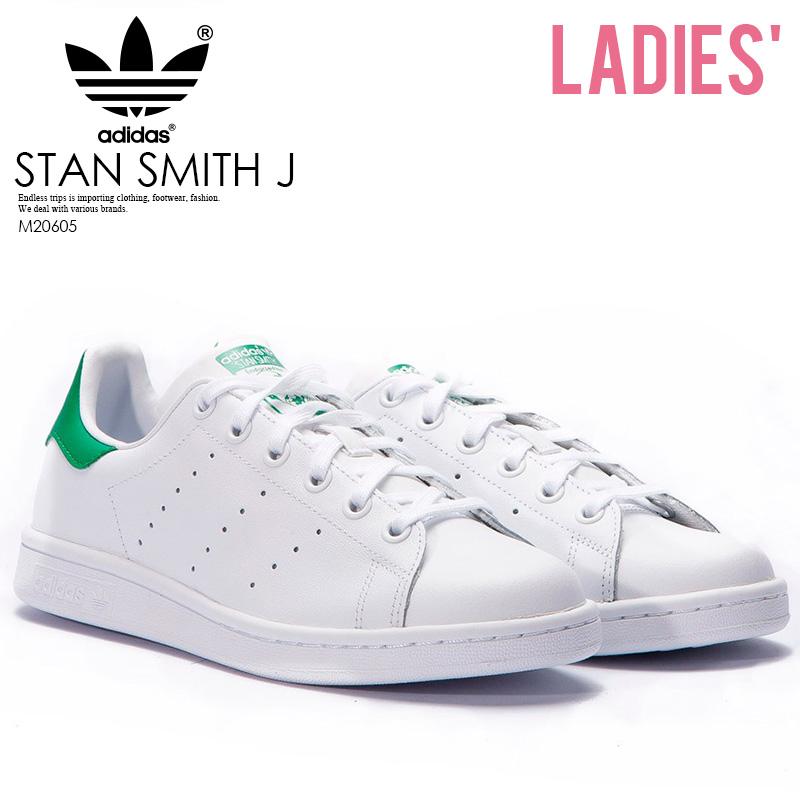 【希少なレディースサイズ】adidas Stan Smith J Sneaker アディダス スタンスミス レディース シューズ スニーカー White/ Green (白/緑) ホワイト グリーン M20605 ENDLESS TRIP pickup