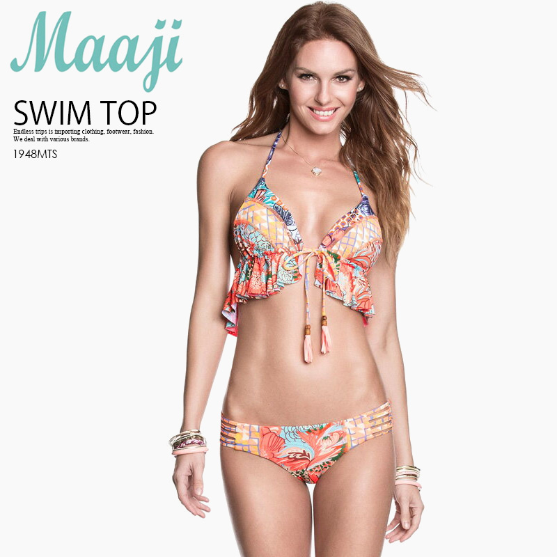 bb6fbe84d8 Maaji (merge) SATURDAY NIGHT TOP (WITH SOFT CUPS) women swimsuit bikini  tops bikini orange ORANGE MULTI 1948MTS ENDLESS TRIP pickup