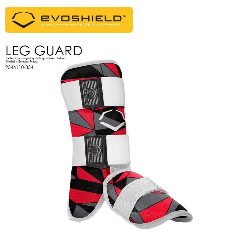 【日本未入荷! 希少! ユニセックス ベースボール レッグ ガード】 EVOSHIELD (エボシールド) CUSTOM-MOLDING LEG GUARD 野球 バッター用 フットガード スネ 甲 当て メンズ レディース RED BLACK (レッド/ブラック) 2046110-354