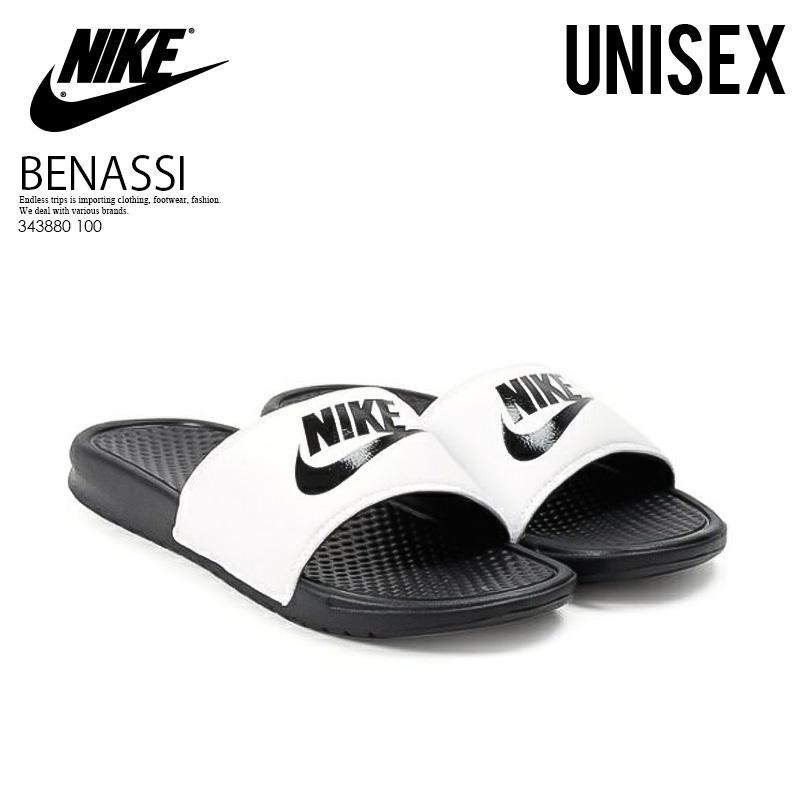 NIKE (Nike) BENASSI JDI (ベナッシ JDI) healthy shower sandals (BLACK WHITE)  black   white (343880 100) 3221eb815456