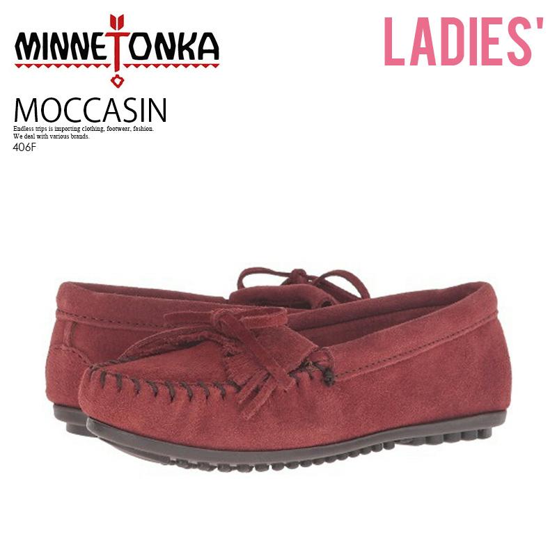 MINNETONKA (Mine Tonka) KILTY MOC (キルティモカシン) WOMENS women moccasins shoes  shoes suede leather BRANDY (brandy) 406F ENDLESS TRIP ENDLESSTRIP end rest  ... 3d5c18a8dd3