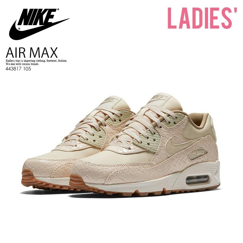386ee27373 ... where to buy nike nike wmns air max 90 prem air max 90 premium sneakers  oatmeal