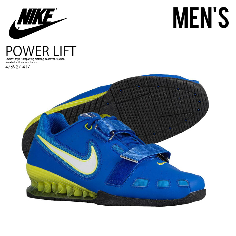 f15cb7efac82 NIKE (Nike) ROMALEOS 2 (Roma Leos) MENS weightlifting powerlifting shoes  HYPR CBLT WHT-ELCTRC YLLW-BLCK (blue   white   yellow) 476927 417 ENDLESS  TRIP ...