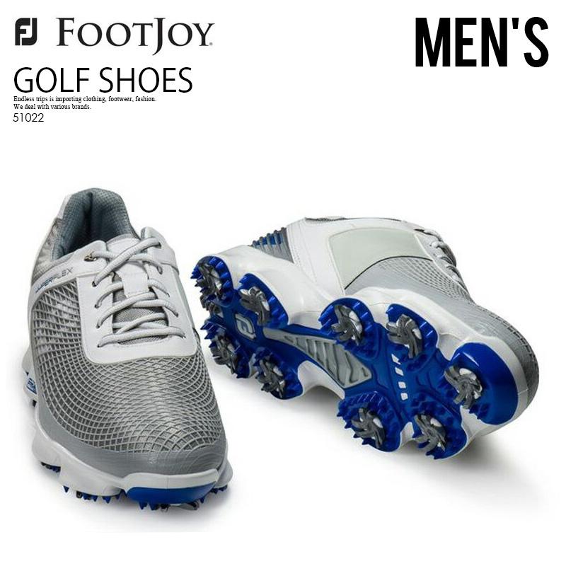 【お買い物マラソン】【希少!大人気!メンズ ゴルフシューズ】 FOOTJOY (フットジョイ) HYPERFLEX (ハイパーフレックス) MENS GOLF SHOES WHITE/GREY/BLUE (ホワイト/グレー/ブルー) 51022 ENDLESS TRIP ENDLESSTRIP エンドレストリップ