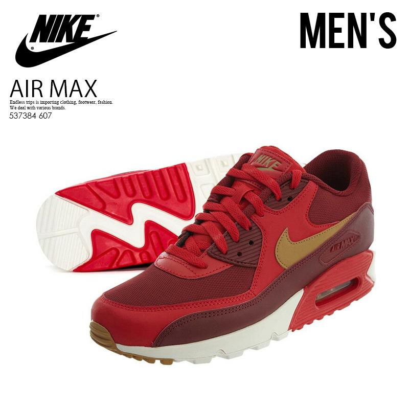 【大人気! 入手困難! メンズ モデル】 NIKE (ナイキ) AIR MAX 90 ESSENTIAL (エア マックス 90 エッセンシャル) GAME RED/ELEMENTAL GOLD (レッド/ゴールド) MENS スニーカー シューズ 537384 607 ENDLESS TRIP pickup