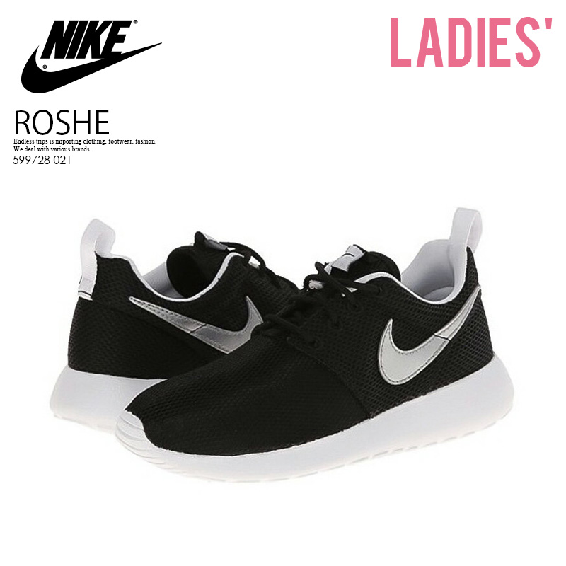 【レディース】NIKE (ナイキ)ROSHE ONE (GS) ローシー ワン ROSHE RUN (GS) ローシー ラン スニーカー BLACK/METALLIC SILVER-WHITE-WHITE ブラック (599728 007) (599728 021) ENDLESS TRIP pickup