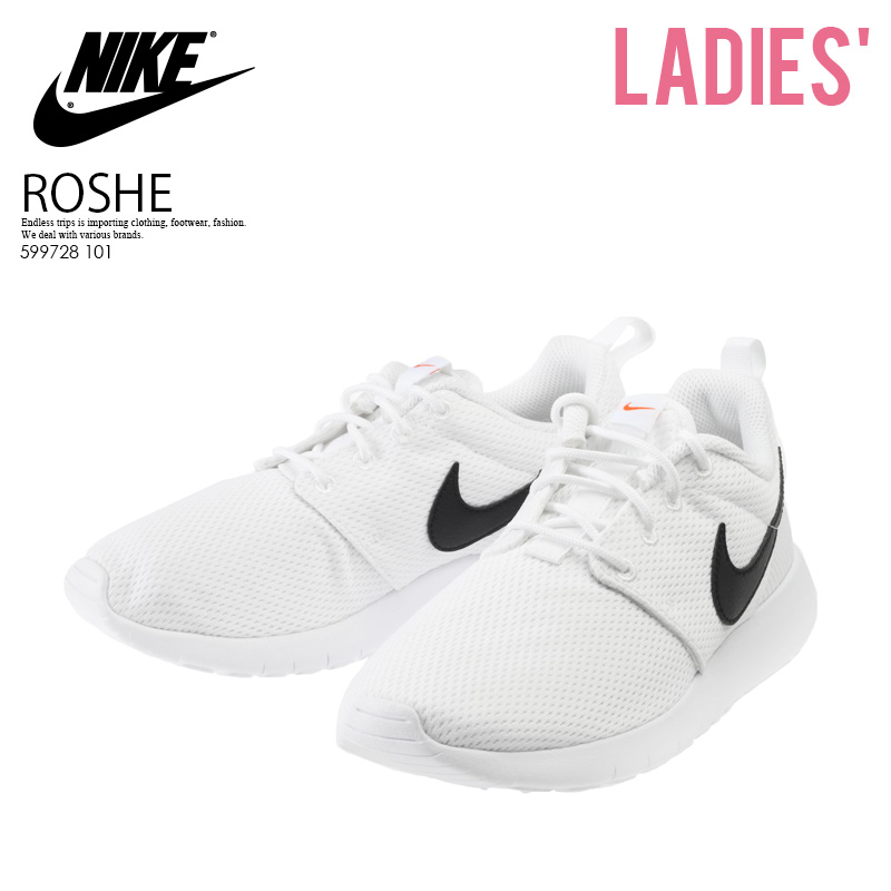 huge discount 0e8f9 91ddd Rakuten supermarket SALE! NIKE (Nike) ROSHE ONE (GS) (Losey one) kids model  sneakers WHITE/BLACK-SAFETY ORANGE (white / black) 599728 101 ENDLESS TRIP  ...