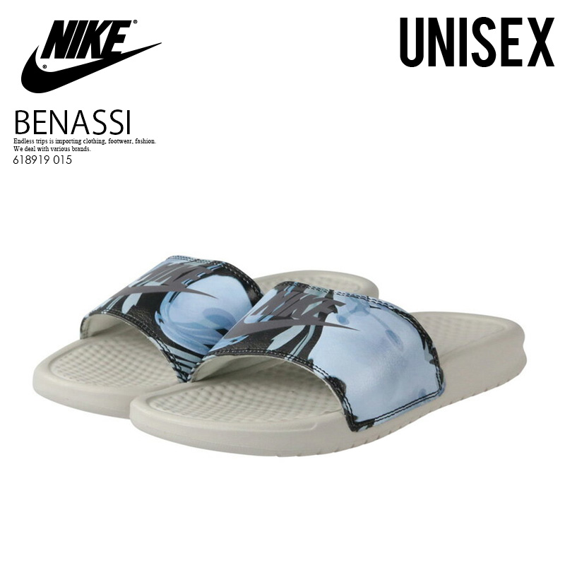 innovative design 7ad9a c40a5 NIKE (Nike) WOMENS BENASSI JDI PRINT (ベナッシプリント) shower sandals Hel sea  sandals men gap Dis LIGHT BONE LIGHT CARBON (light Vaughn   carbon) 618919  ...