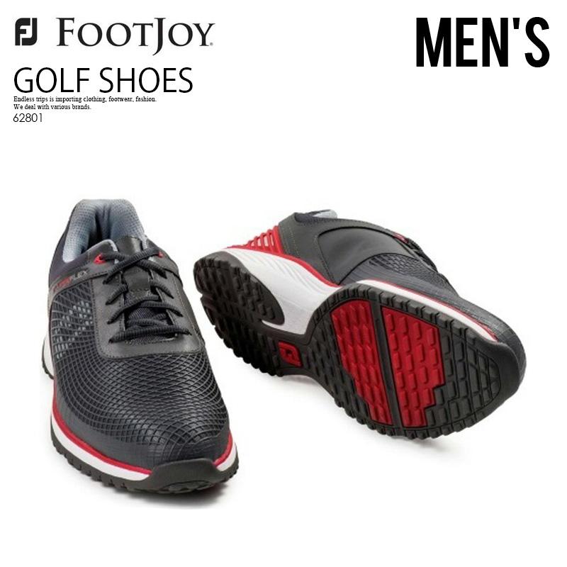 【お買い物マラソン】【希少!大人気!入手困難!】【メンズ 】FOOTJOY (フットジョイ) HYPERFLEX FITNESS TRAINER (ハイパーフレックス フィットネス トレーナー) ゴルフシューズ CHACOAL/RED (チャコール/レッド) 62801 ENDLESS TRIP pickup
