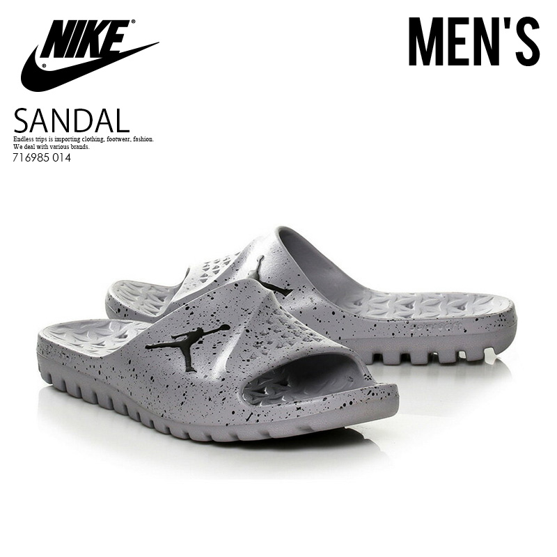 7415da3d149e34 NIKE (Nike) JORDAN SUPER.FLY TEAM SLIDE (Jordan supermarket.a fried food  team slide) MENS shower sandals Hel sea sandals CEMENT GREY BLACK-BLACK  (gray ...