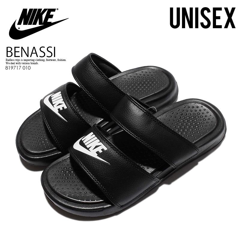 new concept b6cef b4c6a NIKE (Nike) WOMENS BENASSI DUO ULTRA SLIDE (ベナッシデュオウルトラスライド) lady's healthy  shower sandals (BLACK/WHITE) black / white (819717 010) ENDLESS TRIP ...