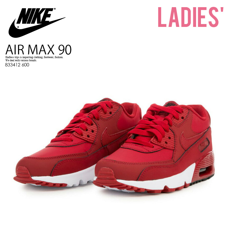 6d7bc17c5bc ... norway nike nike air max 90 leather gs air max 90 leather women sneakers  gym red