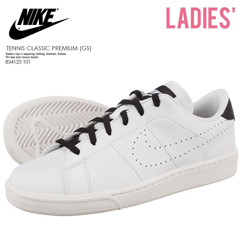promo code 53aa8 f4a4d NIKE (Nike) TENNIS CLASSIC PREMIUM (GS) (tennis classical music premium)  PRM sneakers WHITE WHITE-BLACK (white   black) 834123 101 ENDLESS TRIP