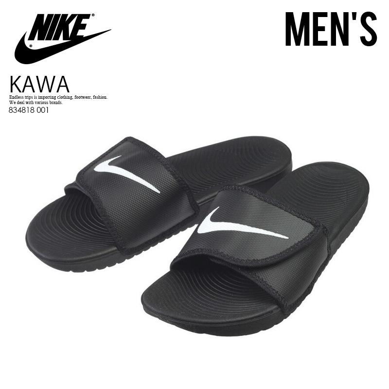the latest 8ef15 2a493 ... france nike nike kawa adjust kava adjust mens shower sandals hel sea  sandals black white black