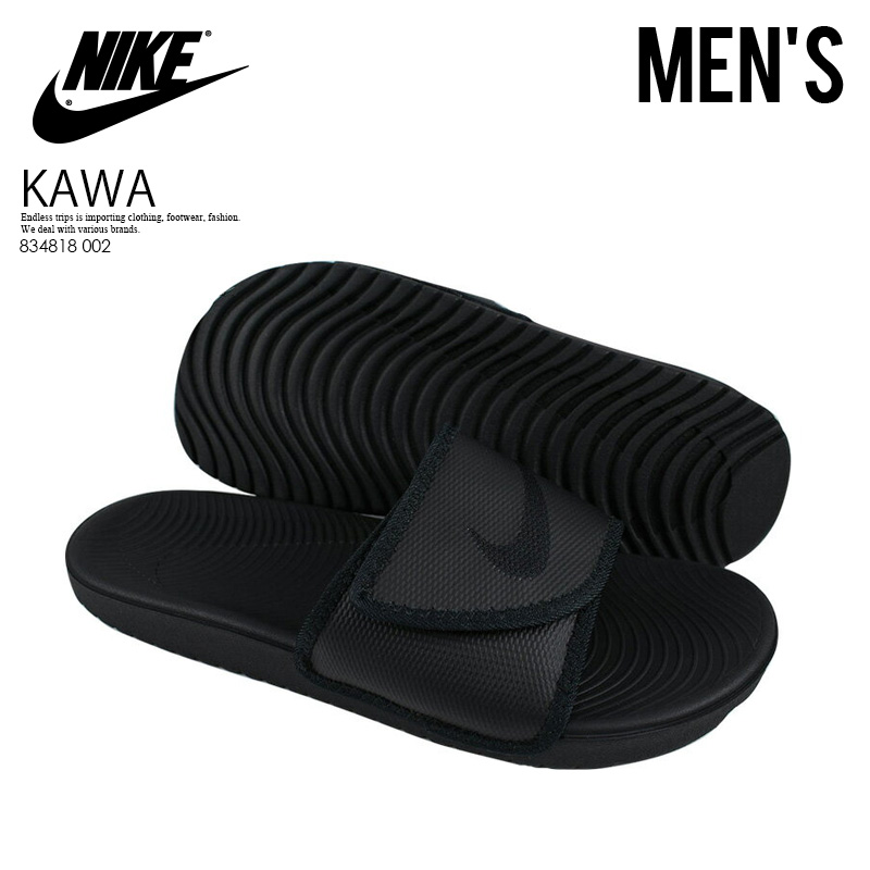 c2c2a7d8da16 shopping nike kawa adjust mens slide sandals 54c0f 6ebd7  australia nike  nike kawa adjust kava adjust mens shower sandals hel sea sandals black  black black